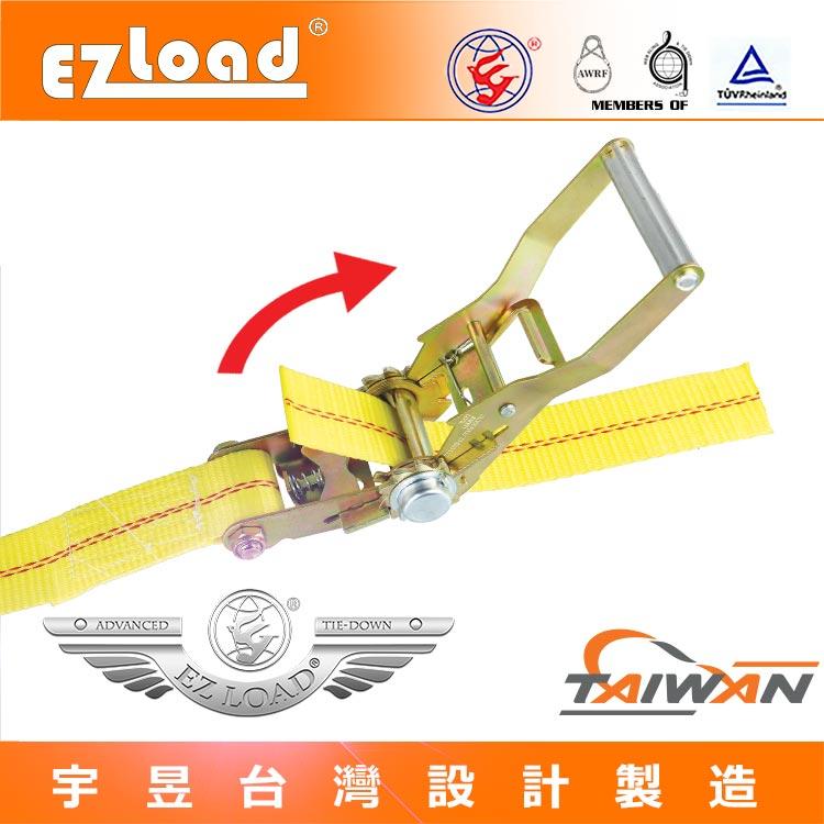 棘輪綑綁器與貨車貨物安全固定帶